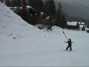 Marijn in the ski tow